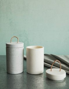 Concrete Storage Jars - 2 colours available