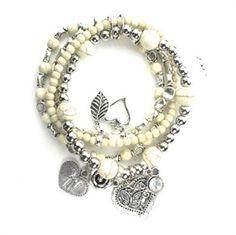 BCHARMD cream multi friendship bracelets- Buy yours here for just £18.99 >> http://www.pearlandbutler.co.uk/772-p/bcharmd-cream-multi-friendship-bracelets.aspx