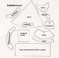 Luciene e.v.a: Molde caneta decorada noel