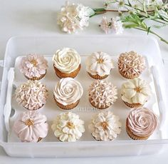 These are some gorgeous floral cupcakes! Photo: Lulu Kayla Cupcakes