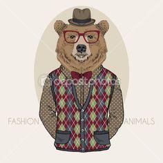 Resultado de imagen para oso ruso ilustracion