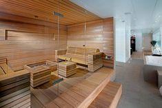 Sauna - done well Sauna Steam Room, Sauna Room, Design Sauna, Design Design, House Design, Interior Design, Modern Saunas, Sauna Hammam, Sauna Shower