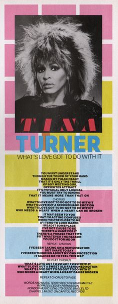 Tina Turner - What's Love Got To Do With It, 1984