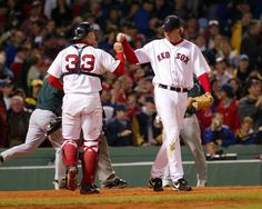 April 27, 2002 – Red Sox pitcher Derek Lowe throws a no-hitter vs. the Tampa Bay Devil Rays, striking out 6 in the process. Catching for the Red Sox that day: Jason Varitek.
