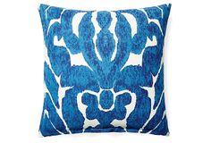 Carmel 20x20 Cotton Pillow, Blue on OneKingsLane.com