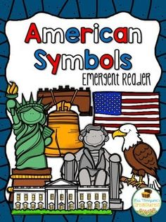 Free American Symbols Emergent Reader Your students will love this cute and colorful emergent reader that introduces American symbols using a familiar pattern. Includes a full page color version half page black and white version for students to make t Kindergarten Social Studies, Teaching Social Studies, National Symbols Kindergarten, Patriotic Symbols, American Symbols, American Flag, American History, Classroom Freebies, Classroom Ideas