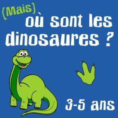 """Chasse au trésor """"dinosaure"""" pour les petits de 3 à 5 ans (ludeek.com)"""