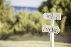 Beach Wedding in Kiotari Rhodes » GoldenApple, Weddings in Rhodes Greece #weddingsign