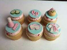 Spa Day cupcakes