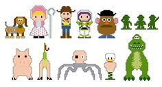 Toy Story Pixel People Character PDF pattern by CheekySharkLabs