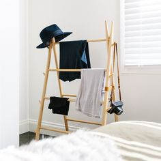 How to Handle the Bedroom Chair Pile-Up For Good: 6 No-Hanger, No-Fold Options for Casual Clothes Storage (Apartment Therapy Main) Apartment Bedroom Decor, Bedroom Chair, Clothing Storage, Space Clothing, Clothing Accessories, Running Clothing, Clothing Racks, Diy Clothing, Bedroom Storage