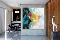 Items similar to Large Abstract Canvas Art,Extra Large Abstract Canvas Art,painting on canvas,modern abstract,extra large wall art on Etsy Large Abstract Wall Art, Large Painting, Texture Painting, Painting Art, Texture Art, Bright Paintings, Unique Paintings, Art Paintings, Abstract Paintings