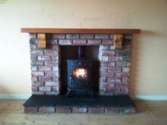 Olymberyl Gabriel Multi Fuel Stove and Brick Fireplace