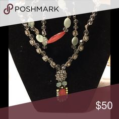 3 piece jewelry Set This set is called Cucumber and Melons. It has a necklace, bracelet and earrings, this set is so cute and versatile. Jewelry Necklaces
