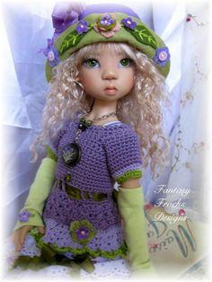 """Spring Garden"""" Kaye Wiggs Layla,Miki & Same Size BJD Dolls by Fantasy Frocks"""