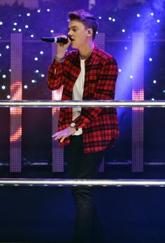 Conor Maynard performs at the switch-on. Picture: Ian Gavan/Getty Images for New West End Company