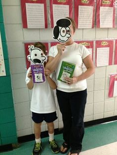 Book Character Day ~ Diary of a Wimpy Kid! Free, Downloadable .pdf Masks for Greg, Manny, Rodrick, Rowley, plus Mr. and Mrs. Heffley at www.wimpykidclub.co.uk!