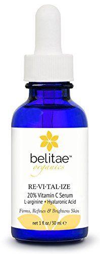 """""""Belitae - Organic Vitamin C Serum for Face with Hyaluronic Acid + 20% C 30 ml - Helps Repair Sun Damage"""