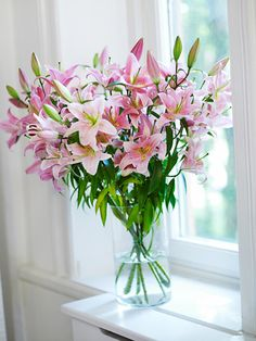 My Favorite flower -  Lillies. The smell, the colour, but never more than one bunch and never after one week