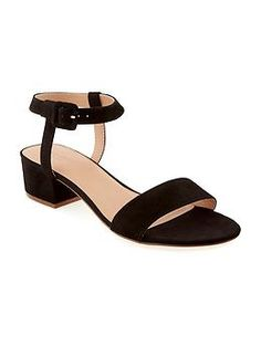 Sueded Heeled Sandal for Women   Old Navy