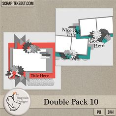 Templates are a great way to jumpstart your scrapbook pages! They are fast and easy to use and can be adapted to meet your individual scrapping needs. Double Pack 10 is available now at Scrap Take Out: http://scraptakeout.com/shoppe/Double-Pack-10.html