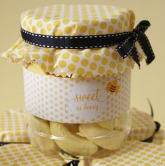 Bee party favors.