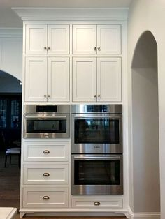New Classic White Kitchen – Renovation Inspiration Shaker Cabinet. Oven wall cabinet with shaker doors. Shaker kitchen cabinets oven wall Home Bunch Interior Design Kitchen Cabinets Decor, Farmhouse Kitchen Cabinets, Modern Farmhouse Kitchens, Kitchen Cabinet Design, Kitchen Redo, New Kitchen, Home Kitchens, Kitchen Ideas, Rustic Farmhouse
