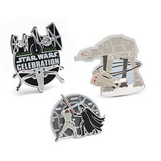 Get this set of one-of-a-kind enamel stickback pins only at ThinkGeek. Even better? It's free with your purchase of $75 or more of Star Wars merchandise.