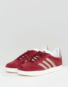 b26f3f77f86 adidas Originals Gazelle Sneakers In Burgundy - Red The Originals