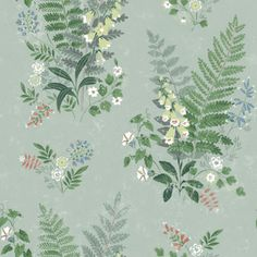 Gentle in spirit, beautiful forest flowers spread across a sage background in this dreamy design. Complete with distressed accents and faded hues, this wallpaper has a vintage style. Foxglove is an unpasted, non-woven blend wallpaper. Plant Wallpaper, Botanical Wallpaper, Green Wallpaper, Wallpaper Roll, Striped Wallpaper, Brewster Wallpaper, Forest Flowers, Wild Flowers, Wallpaper Warehouse