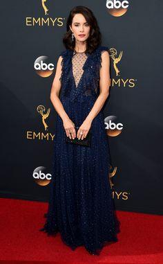 Abigail Spencer from 2016 Emmys Red Carpet Arrivals  In Jenny Packham
