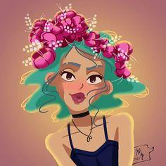 Flower crown 🌺🌿🌺 ° #illustration #digitalillustration #illustrazioni #illustrations #disegni #immagini #flowers #flowersdrawing #digitalart #digitalpainting #comic #comics #hawaii #hawaian #characterdesign #instaartwork #graphics #graphic #photoshop #wacom #wacomtablet