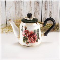 Rosalinda Decorative Teapot   Vintage look  by Alenahandmade, $37.50