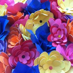 Paper flowers made with the cricut!!!