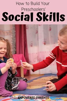 Find out how you can develop your preschooler's social abilities with these play-based social skills activities for kids. Social development in early childhood is as important as a child's intellectual or physical skills. Preschool Social Skills, Social Emotional Activities, Social Skills Lessons, Social Emotional Development, Child Development, Development Board, Preschool Learning, Coping Skills, Early Learning