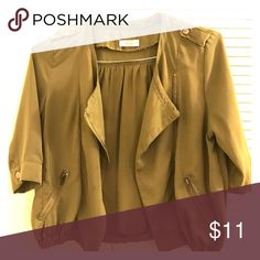 Khaki green light-weight Front drape khaki green cardigan Sweaters Cardigans