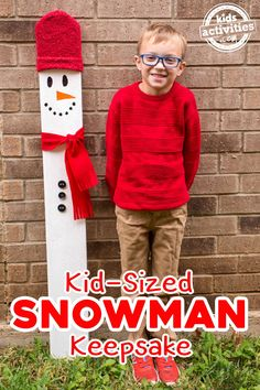 Kid-Sized Snowman Holiday Keepsake Kid-Sized Snowman Holiday Keepsake<br> Looking for a fun, meaningful gift for your precious child this Christmas? This kid-sized snowman holiday keepsake is the PERFECT gift for any child! Preschool Gifts, Preschool Christmas, Christmas Activities, Christmas Projects, Kids Christmas, Preschool Ideas, Christmas Neighbor, Preschool Projects, Diy Projects