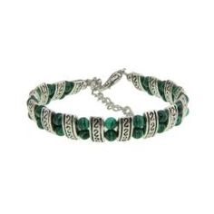 @Overstock - This handmade Tibetan silver bracelet features Tibetan-style carving accentuated by dark green malachite stones that will add that special touch to any look. Let this gorgeous piece of jewelry become the next treasured piece of your collection.  http://www.overstock.com/Worldstock-Fair-Trade/Tibetan-Silver-Malachite-Bracelet-China/5986671/product.html?CID=214117 $18.99