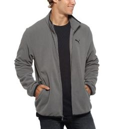 "That whole ""essential"" thing in the name? Totally legit. No matter what your style, this fleece zip-up is one of those jackets every guy can use. Wear it as a layering piece, a sweatshirt alternative, a cool-weather jacket, whatever. Features: 100% Polyester Microfiber Fleece for softness and wearabilityElasticized contrast taping at collar, cuffs, and hemFull zip closureDual pockets at waistEmbroidered PUMA Cat Logo at left chest"