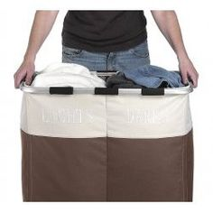 Double Laundry Hamper -  Clothes Sorter - StacksandStacks $34