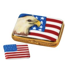 Eagle & USA Flag Limoges Box | 4Th Of July Gifts | Holiday Gifts | Gift Ideas | ScullyandScully.com