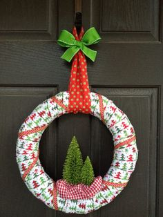 Oh Christmas Tree Wreath by PolkadotsOriginals on Etsy