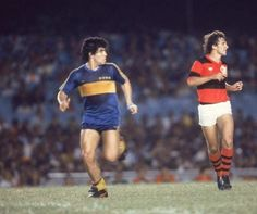 Boca en Maracaná vs Flamingo, Sep. 1981.