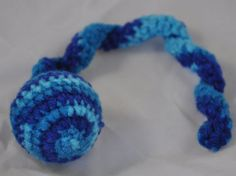 Hand Crochet Cat Toy Shaded Teals Jingle Ball Snake Cat Toy Homemade Cat Toys Unique Cat Toys #jenniespetcorner #handmadecattoys #cattoys #homemadecattoys #uniquecattoys #coolcattoys #cattoyballs  https://www.etsy.com/listing/204448215/hand-crochet-cat-toy-shaded-teals-jingle