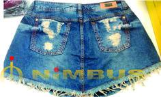 Short saia jeans Nimbus
