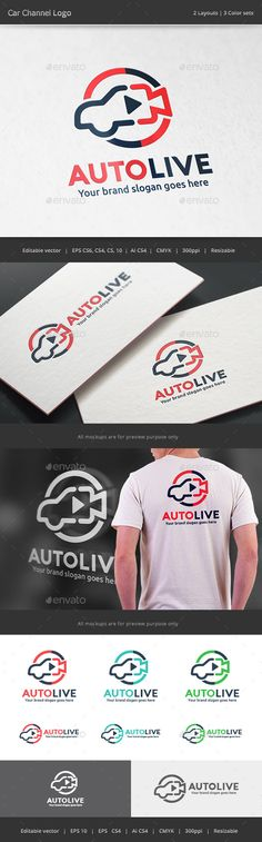 Car Channel  Logo Design Template Vector #logotype Download it here: http://graphicriver.net/item/car-channel-logo/15376824?s_rank=67?ref=nexion