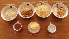 mes barres de céréales maison ... - aux fils de lau Cereal, Breakfast, Treats, Almond, Morning Breakfast, Sons, Morning Coffee, Breakfast Cereal, Corn Flakes