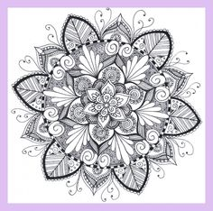 Mandala Doodle, Mandala Dots, Mandala Drawing, Flower Mandala, Pattern Coloring Pages, Mandala Coloring Pages, Coloring Book Pages, Paisley Background, Zentangle Patterns