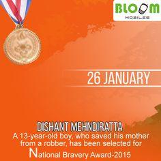 Congratulation Dishant Mehndiratta for getting National Bravery Award !!!!
