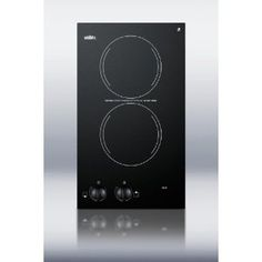 Summit CR2110 12 Smoothtop Electric Cooktop Two 1,200 Watts Radiant Elements, Black Ceramic Glass